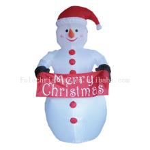Aufblasbarer Schneemann im Freien für Weihnachtsdekoration