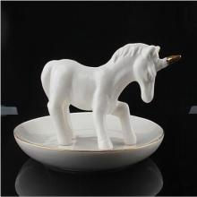 Ceramic Unicorn Ring Holder Vintage Jewelry Stand