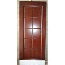 Puertas MDF de 10 paneles enchapados en cerezo prefabricados para Village Project.