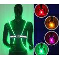 Hohe Sichtbarkeit Fluoreszierende Lauf-LED-Weste Reflektierende Weste