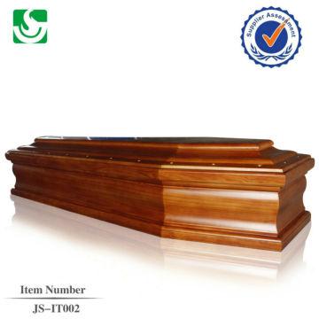хорошее качество твердых древесины Европейский стиль гроб, сделанные в Китае