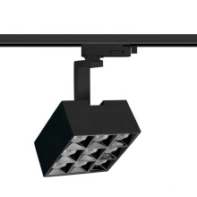 2020 Black white various angles adjustable rotatable rail dimmable 30w housing square ceiling led track light