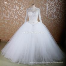 RSW755 Long Sleeve Schweres Perlenmuster Saudi Arabian Brautkleider In Dubai