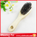 Wooden handle double use comb