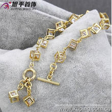 Pulsera de la manera del color del oro de Xuping 14k (72890)