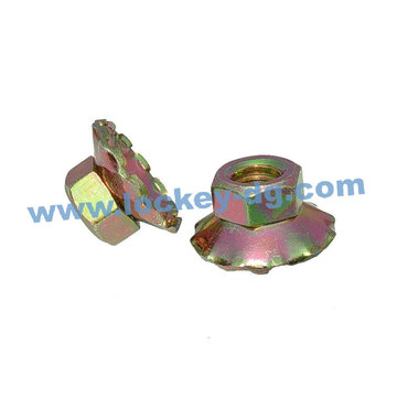 Special Flange Nut, Yellow Zinc