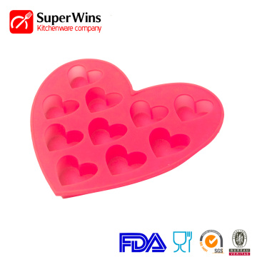Cubos de gelo Easy-Flex Silicone Heart Candy Mold