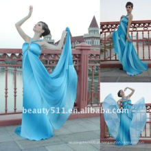 Astergarden Real Photo Promotion Price Printed Chiffon Halter Design Beading Evening Dress AS138