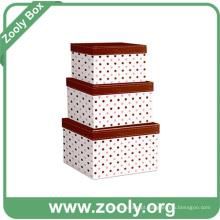 Nesting caixa de presente / caixa de papelão aninhado caixa / caixa de armazenamento redonda Nestable