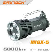 Maxtoch MI6X-5 5 * Cree XML T6 LED mango linterna más de gran alcance