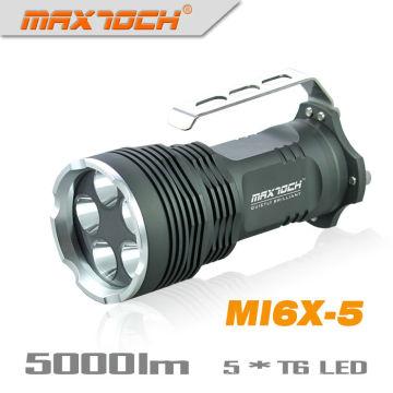 Maxtoch MI6X-5 5 * Cree XML T6 identificador LED Lanterna elétrica mais poderosa