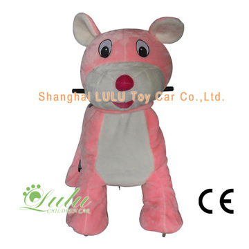 10 Years for Battery Walking Animal Pink Big Ear Mouse Coin Operated Rides export to Mayotte Factory