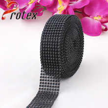 Black Decorative Plastic Trimming, 24 Lines Plastic Banding