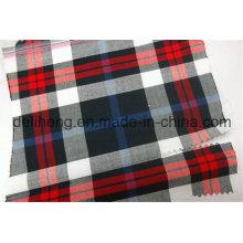 Mode 100% Polyester Garn gefärbt überprüft Stoff für Shorts