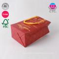 nouveau design chine usine rouge mode shopping sac en papier avec poignée