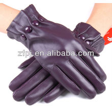 simple style purple cuttons leather products for woman