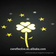 Brilho na etiqueta reflexiva luminosa da segurança escura para o material de decoração