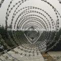 Спиральн колючая проволока anping фабрика гальванизированный провод бритвы BTO22 бритва колючая проволока