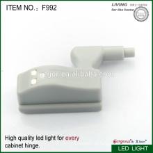 Bisagra del gabinete de los muebles con el dispositivo ligero del LED