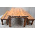 Reclaimed Solid Wood Outdoor Retaurant Dining Set