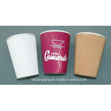 8oz Ripple Wall Paper Cup Disposable Hot Drinks Cups Tea, Coffee, Espresso Insulated Ripple Wall Cups
