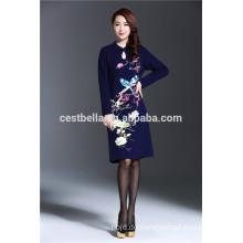 Kundenspezifischer Service Großhandelsfrauen-Qualitätsherbst elegantes Kleid für edle Damen