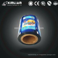 Embalaje de plástico impreso rodillo de película / impresión de embalaje de película para envasado de alimentos
