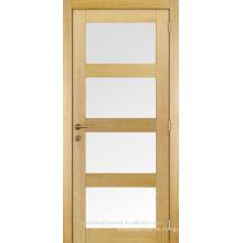 Inserte el inacabado vidrio interior de 4 puerta de la coctelera de madera sólida