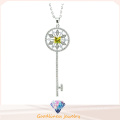 Key Pattern Design for Woman′s Necklace 925 Silver Fashion Jewelry (N6660)