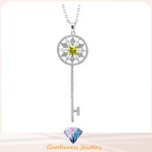 Diseño de patrón dominante para el collar de la mujer 925 joyería de plata de la manera (N6660)