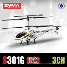SYMA S301G 3.5 canales rc metal helicóptero juguete syma helicóptero juguete giro 3.5 canales rc helicóptero juguetes helicóptero rc manual