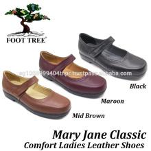 Calçados de enfermagem Foottree Comfort em couro 0413
