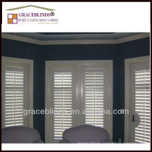tier design timber wooden shutter 2.5 inch blade stain color Z frame double panel wooden shutters