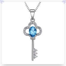 Collier en cristal de bijoux en argent 925 bijoux en argent sterling (NC0228)