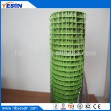 Luz verde 2m altura pvc recubrimiento después de la soldadura de tela de malla de alambre fábrica