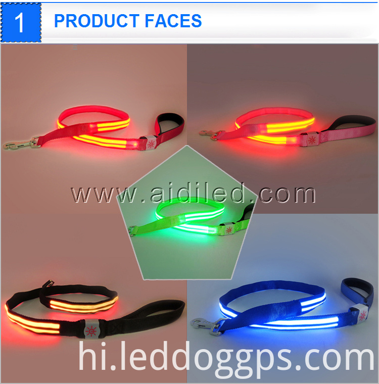 Led Glow Pet Dog Harness And Leash
