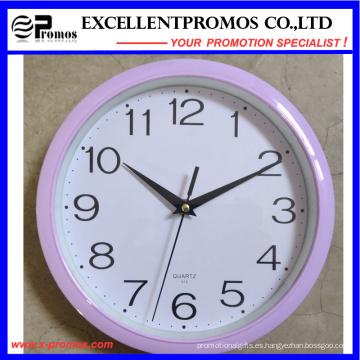 Logotipo de impresión de plástico redondo Reloj de pared (Item1)