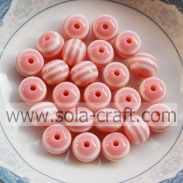 Factory Price 8MM 500Pcs Light Pink Acrylic Spacer Gumball Beads,Resin Loose Solid Beads,Chunky Beads For Necklace