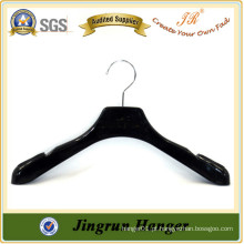 Alibaba China Fornecedor Black Plastic Hanger With Round Metal Hook