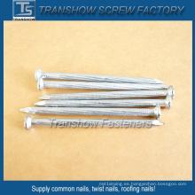 Clavos de hormigón con vástago trenzado de 2,9 mm