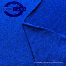 87% polyester, 13% jersey spandex, tissu mélangé brossé