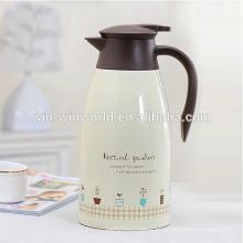 Vaso de café personalizado de aço inoxidável isolado bebida colorido 1.5L do café de Drinkware da família da parede dobro