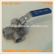 high quality low price tee handle ball valve