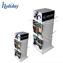 Nehmen Sie kundenspezifischen Entwurf um, der Papphaken-Ausstellungsstand 3 Seiten-hängenden Ausstellungsstand dreht