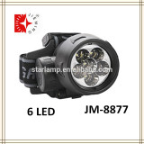 Rechargeable led hunting search light 6 led head light for hunting