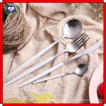 18 до 10 острый нож и вилка ложка ручки черного золота Л посуда из нержавеющей стали высокая-класс Западная нож и вилка