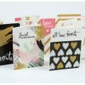 Cartões pequenos com design personalizado