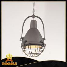 Hierro Retro Lámpara Colgante Clásica Km047p (gris antiguo)