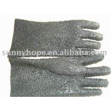 Des gants trempés de PVC avec des copeaux pour les pêcheurs