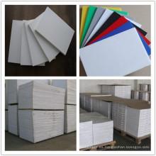 Tablero blanco de la espuma del PVC del color